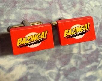 CUFFLINKS Bazinga Big Bang Theory cuff links