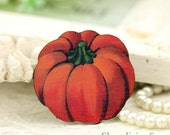 4pcs Vintage Pumpkin Wood Charms, Laser Cut Wooden Halloween Pendants HW048D