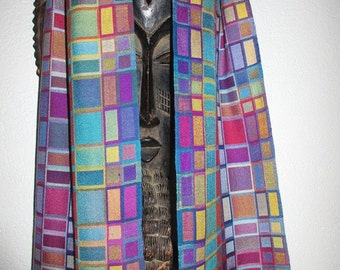 MADE TO ORDER  Handwoven Scarf, Extra Fine Shantung Silk Double Weave