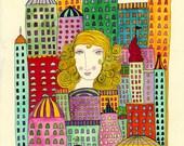 Magic City-City girl, Cityscape, Urban art, Urbanscape, City, City Art, Urban landscape
