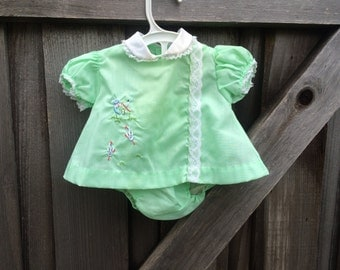 60s Baby Dress and Bloomers 3/6 Months