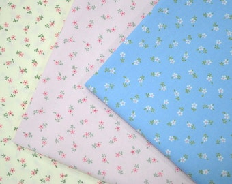 Sweet Small Floral - Japanese Cotton Fabric - half yard