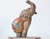 Vintage Elephant, Unique Art Brand, Tin Toy Circus Elephant