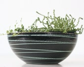 Vintage Cathrineholm Bowl, Saturn Pattern, Black and Green