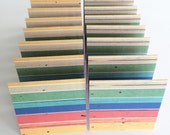 Mini Cards 16 Rainbow Stripe Woodgrain - blank for thank you notes 3 x 3