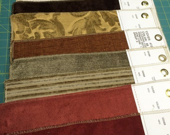 Upholstery fabric samples - prints and solids qty 26
