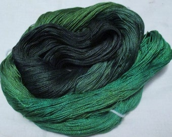 Handpainted 5-2 Egyptian Cotton Yarn    EMERALDS-525 yds.