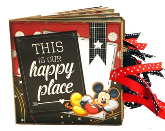 Disney Scrapbook - Photo Album - Mickey Mouse - Paper Bag Scrapbook Album