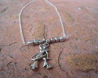 Hula Hooper Bar Necklace // Hoop Love Necklace
