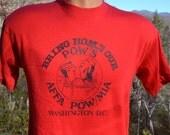vintage 80s tee POW MIA vietnam war veterans t-shirt Medium Large bring home soft