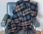 Vintage Pendleton Wool Throw Blanket - stadium, afghan, picnic blanket