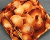 Onion Print Potholders set of 2