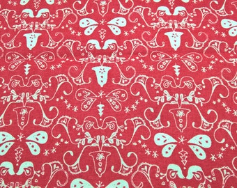 Christmas Red Silhouettes - fat quarter cotton