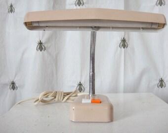 On Sale!Adorable Vintage Children's Gooseneck Desk Lamp, Peach Beige, Miniature, Mid
