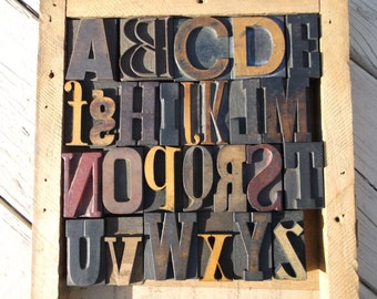 50% OFF with coupon code NEWYEAR2016 - Letterpress - Stunning mixed font alphabet - 26 Items - Lot 506