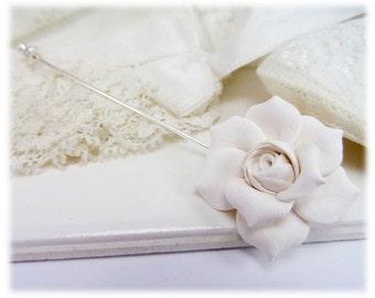 Gardenia Brooch or Stick Pin - Gardenia Jewelry
