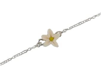 Jasmine Sterling Silver Anklet or Bracelet - Jasmine Ankle Bracelet Jewelry