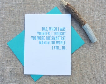 Letterpress Greeting Card - Father's Day Card - Smartest Man in the World - DAD-158