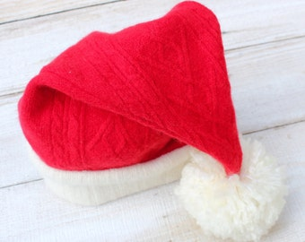 Santa Hat in Luxurious Red Lambswool
