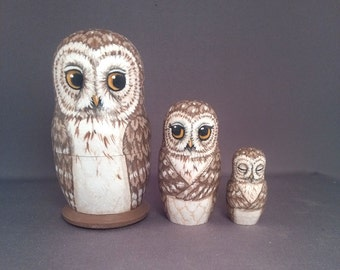 Nesting Doll Owls Set of 3