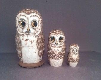 Nesting Doll Owls Set of 3