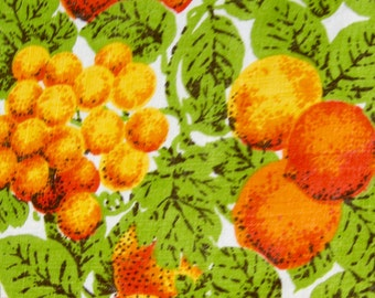 "Harvest Thanksgiving Vintage Tablecloth - 60 x 80"" - 1970s"