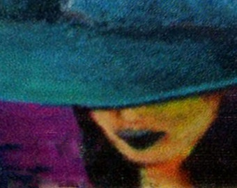 original art  aceo drawing witch hat