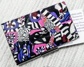 Fun and Whimsical Polymer Clay Business Card Holder - Stainless Steel and Polymer Clay Credit Card Case