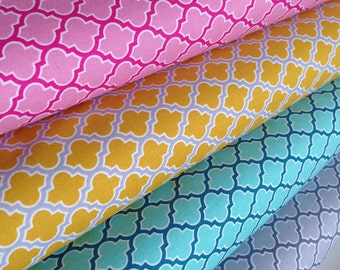 Easter Fabric, Spring fabric, Girl Fabric, True Colors by Joel Dewberry, Quilt fabric, Wedding Fabric, Lodge Lattice, Fabric Bundle of 4