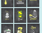 Kitchen Wall Art, Chalkboard Inspired Art, Funny Kitchen, Be Grateful, Mixer, Zest, Food