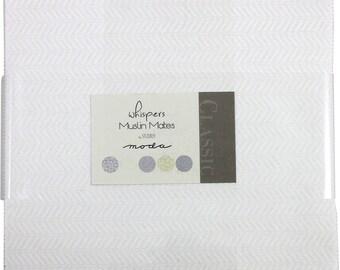 "Whisper Muslin Mates Moda Layer Cake 42 -  10"" precut quilt squares by Studio M"