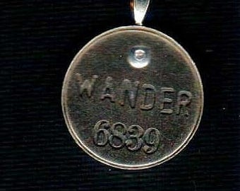 Handmade Cold Connection Wander Pendant Charm Antique Silver