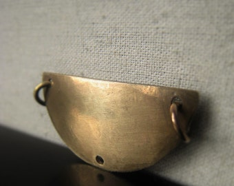 Gold Half Moon Pendant Connector Oxidized Brass Demi Lune Chandelier Item No. 7906