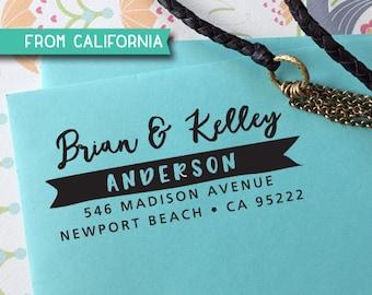 CUSTOM ADDRESS STAMP, Holiday Gift, Christmas Gift, Rubber Stamp, Self Inking Stamp, Return Address Stamp, Wedding Stamp, Stamper 321