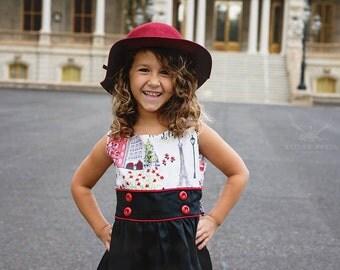 1950 Style Retro Paris Dress children child girl toddler