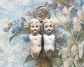 Antique German Doll Parts Gothic Frozen Charlotte Painted Girls from the Crypt Eerie Surreal Relic Art Jewelry Assemblage