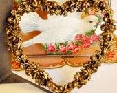 Momento Heart Photo Frame Floral Edges Tabletop Frame Valentine Gift