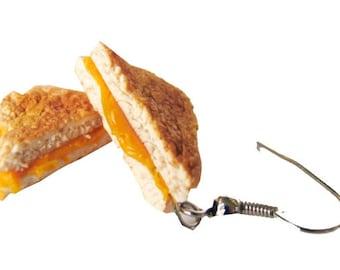 Grilled Cheese Earrings, Food Earrings, Food Jewelry,Grilled Cheese Jewelry, Miniature Food