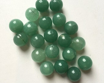 Green Agate 10mm Round Beads