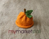 PDF KNITTING PATTERN - Orange and Lemon Hat