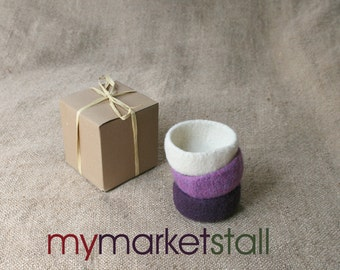 Mini-Bowl Set - Eggplant Colors - Aubergine/Variegated/Italian - Ready to Ship