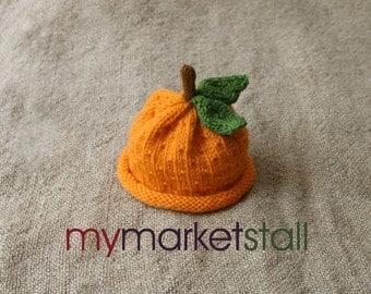 PDF KNITTING PATTERN - Orange and Lemon Hat