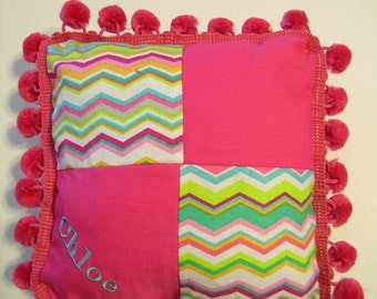 Handmade TOOTH FAIRY PILLOW U Design Chic Personalized Monogrammed Name or Letter