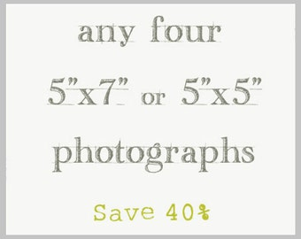 Save 40% / Photography Print Set of Four