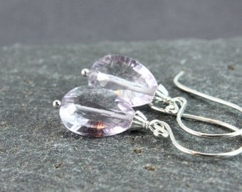 Purple Amethyst Earrings  Sterling Silver Gemstone Jewelry February Birthstone Gifts  Gem Stone  Made For Her