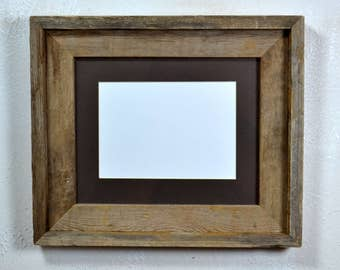 8x10 natural wood picture frame with 5x7 mat