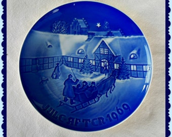 Bing & Grondahl 1969 Annual Christmas Plate - Vintage Collectible