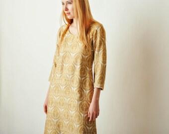 Vintage Long Embroidered Dress