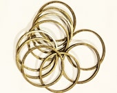 10 pcs of Antiqued brass round connector rings 20mm, 1mm thick