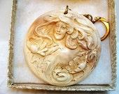 Vintage Art Nouveau Style Woman Key Chain